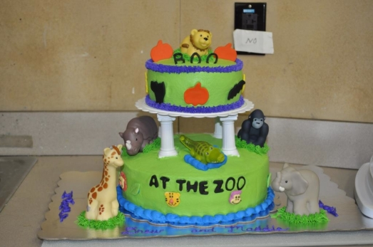 Boo at the Zoo Cake
